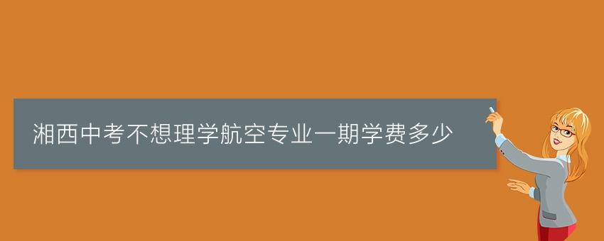 湘西中考不想理学航空专业一期学费多少