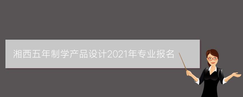 湘西五年制学产品设计2021年专业报名